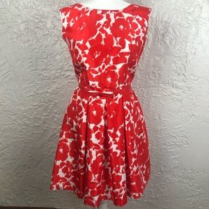 Danny and Nicole Red Floral Dress Size 8